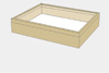 Lime wood drawer - 40 x 50 x 8 cm, with plastazote foam