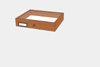 Meranthi wood drawer - 23 x 30 x 6 cm, with plastazote foam and brass fittings