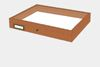 Meranthi wood drawer - 40 x 50 x 6 cm, with plastazote foam and brass fittings