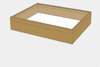 Oak wood drawer - 40 x 50 x 8 cm, with plastazote foam