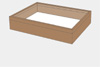 Alder wood drawer - 40 x 50 x 8 cm, with plastazote foam