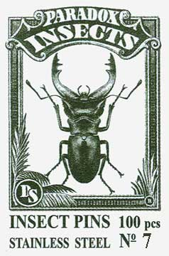 Insect Pins - Stainless Steel <b>No 7</b>, 100 pcs.