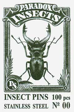 Insect Pins - Stainless Steel <b>No 00</b>, 100 pcs.