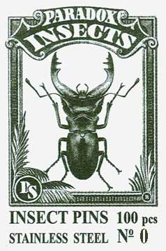 Insect Pins - Stainless Steel <b>No 0</b>, 100 pcs.